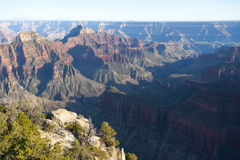Bright Angel Canyon of the Grand Canyon. Bright Angel Canyon, major tributary of the Grand Canyon, as seen from the North Rim, Arizona, USA stock image