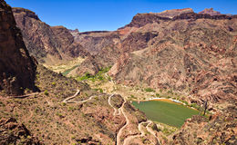 Bright Angel Canyon Stock Photography