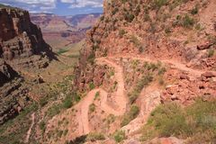 Bright Angel trail Stock Image