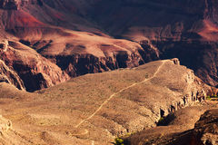 Bright Angel Trail in the Grand Canyon Royalty Free Stock Photography