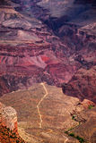 Bright Angel Trail from Grand Canyon Edge Royalty Free Stock Photos