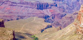 Bright Angel trail in Grand Canyon National Park.  stock photo