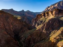 Grand Canyon Trail Switchbacks in Valley Stock Photography