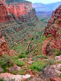 Bright Angel Trail Grand Canyon Stock Photo