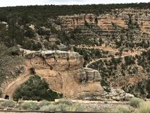 Bright angel trail at South Rim Arizona Stock Photography