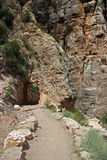 Bright Angel Trail Tunnel Royalty Free Stock Photos