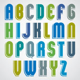 Bright animated uppercase letters. Stock Images