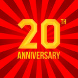Bright anniversary poster. Royalty Free Stock Photo