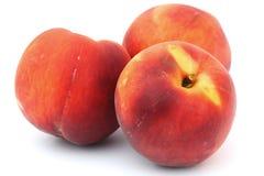 Bright apricot close-up on white Stock Photo