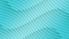 Bright aqua blue overlapping contoured 3d lines and curves geometric abstract wallpaper background illustration. Computer generated geometric abstract fractal vector illustration