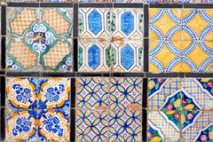 Bright arabic tiles. Bright decorative floor tiles, arabic Stock Photography