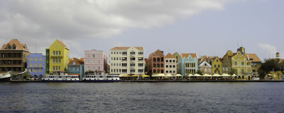 The Bright Architecture of Willemstad, Curacao royalty free stock photos