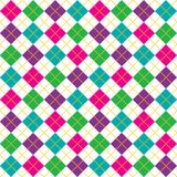 Bright Argyle Pattern Stock Photo