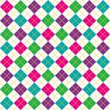 Bright Argyle Pattern. Brightly colored background illustration of argyle pattern Stock Photo