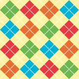 Bright Argyle Pattern Stock Images