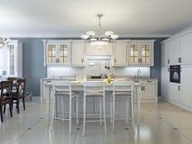 Bright art deco kitchen design Stock Images