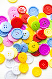 Bright assorted buttons, Royalty Free Stock Images