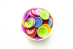 Bright assorted buttons, Stock Photo