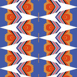 Bright, attention-grabbing pattern in the sixties style. Flashy color Stock Photos