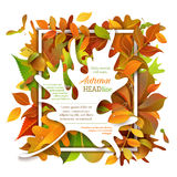 Bright autumn background. Royalty Free Stock Images