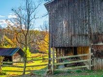 Bright Autumn Barnside Stock Photo