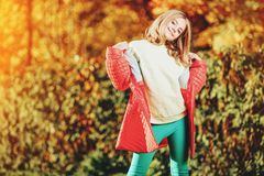 Bright autumn clothes royalty free stock photo