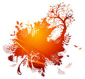 Bright autumn illustration. Royalty Free Stock Images