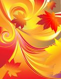 Bright autumn leaf background Stock Images