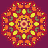 Bright autumn mandala vector Royalty Free Stock Photo
