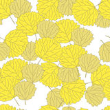 Bright autumn pattern with aspen leaves Royalty Free Stock Photos