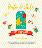 Bright Autumn sale retail template, promotion, advertising Stock Photography