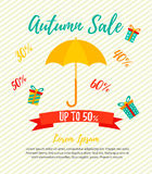 Bright autumn sale template, promotion, advertising Royalty Free Stock Images