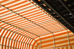 Bright awning is protection heat. Stock Images