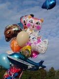 Bright baby balloons Stock Photos