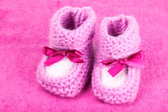 Bright baby booties Royalty Free Stock Images