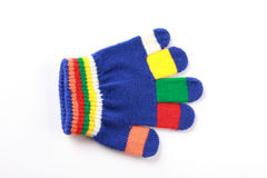 Bright baby glove on white background Royalty Free Stock Photography
