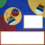 Bright Baby Primary Themed Digital Scrapbook Page Stock Photography
