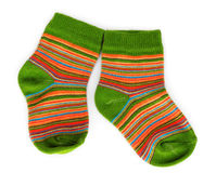 Bright baby socks Royalty Free Stock Images