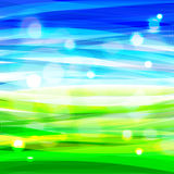 Bright bacground with abstract sky and grass Stock Photos