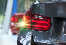 Bright back rear light of the car Stock Image