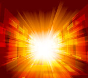 Bright background. With rays in orange color Royalty Free Stock Image
