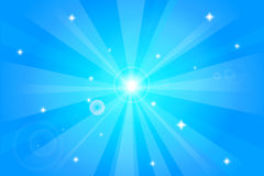 Bright  background. Bright flare blue  background Royalty Free Stock Image