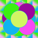 Bright Background Abstract Circles Royalty Free Stock Photography