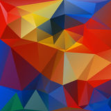 Bright background. Abstract polygonal background with red and blue triangles stock illustration