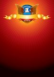 Background with American Eagle. Bright Background with American Eagle Royalty Free Stock Image
