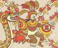 Bright background in the Aztec style Royalty Free Stock Image