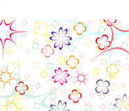 Bright background (baby). Bright and colourful background with stars and flowers Stock Photos