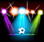 Bright background with ball Royalty Free Stock Images