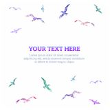 Bright background with birds, vector illustration Stock Images