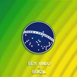 Bright background with blue disc of flag Brazil Stock Image